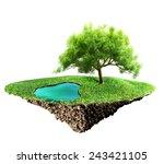 grass island and soil | Shutterstock . vector #243421105