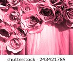 abstract pink fabric paper... | Shutterstock . vector #243421789