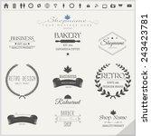 vector set of retro labels | Shutterstock .eps vector #243423781