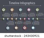 timeline infographics design... | Shutterstock .eps vector #243430921