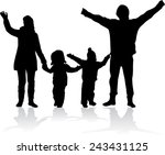 family silhouettes | Shutterstock .eps vector #243431125