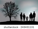 family silhouettes | Shutterstock .eps vector #243431131