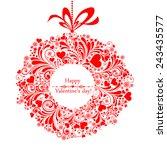 valentine's day card.... | Shutterstock .eps vector #243435577