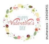 happy valentine's day hand... | Shutterstock .eps vector #243438931