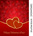 valentine's day card | Shutterstock .eps vector #243445681