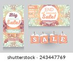 set of promo cards and tags for ... | Shutterstock .eps vector #243447769