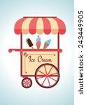 Retro Ice Cream Cart.