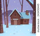 cartoon illustration of the... | Shutterstock .eps vector #243450445