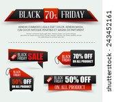 set of paper banner for black... | Shutterstock .eps vector #243452161