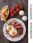 full english breakfast with... | Shutterstock . vector #243453571