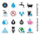 world water day icons   ecology ...