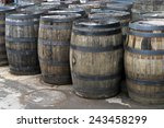 Vintage Wooden Barrels  Old...
