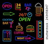 neon icon set   Shutterstock . vector #243458347