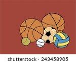 sport ball | Shutterstock .eps vector #243458905