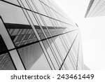 glass surface of skyscrapers... | Shutterstock . vector #243461449