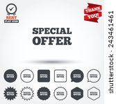 special offer sign icon. sale... | Shutterstock .eps vector #243461461