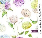 watercolor  hydrangea  pattern  ...   Shutterstock .eps vector #243465895