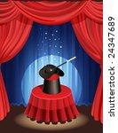 magic hat and magic wand | Shutterstock .eps vector #24347689