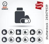 medical pills bottle sign icon. ... | Shutterstock .eps vector #243479539