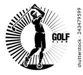 golf. vector illustration in... | Shutterstock .eps vector #243479599