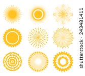 sun icon set   abstract and... | Shutterstock .eps vector #243481411