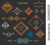 set of symmetrical graphic... | Shutterstock .eps vector #243483019