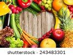 vegetables and fruit heart... | Shutterstock . vector #243483301