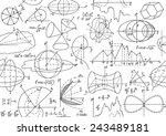 vector seamless math pattern... | Shutterstock .eps vector #243489181