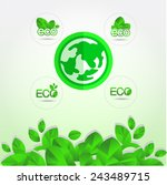 eco green  logo vector... | Shutterstock .eps vector #243489715