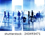 silhouette business people... | Shutterstock . vector #243493471