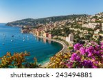 Panoramic View Of Cote D'azur...