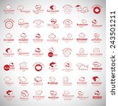 chef hats icons set   isolated... | Shutterstock .eps vector #243501211