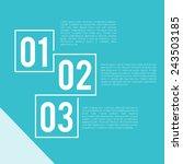 steps presentation template  ... | Shutterstock .eps vector #243503185