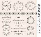 floral design elements set ... | Shutterstock .eps vector #243510631