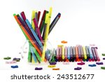 colored pencils | Shutterstock . vector #243512677