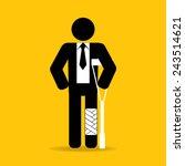 injured cartoon businessman in...   Shutterstock .eps vector #243514621