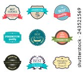 collection of premium quality... | Shutterstock .eps vector #243521569