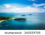 tropical ocean landscape with... | Shutterstock . vector #243529705
