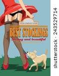 vector  pin up girl in... | Shutterstock .eps vector #243529714