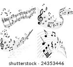 musical designs sets with...   Shutterstock .eps vector #24353446