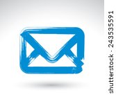 hand drawn simple vector mail...