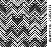 zigzag contrast seamless... | Shutterstock .eps vector #243536551