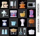 kitchen utensils flat icons....