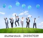 business people humor balloon...   Shutterstock . vector #243547039