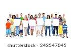 diversity casual community... | Shutterstock . vector #243547045