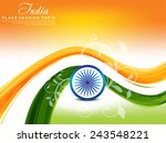 indian republic day background... | Shutterstock .eps vector #243548221