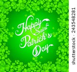 saint patric's day text... | Shutterstock .eps vector #243548281