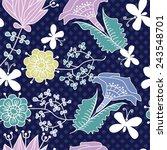 vector floral seamless pattern... | Shutterstock .eps vector #243548701