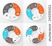vector circle arrows...   Shutterstock .eps vector #243550321