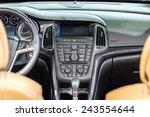 Modern Car Interior With...